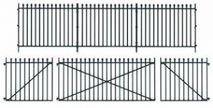 Peco LK-741 GWR Spear Fencing: Straight Panels (890mm), Gates and Posts
